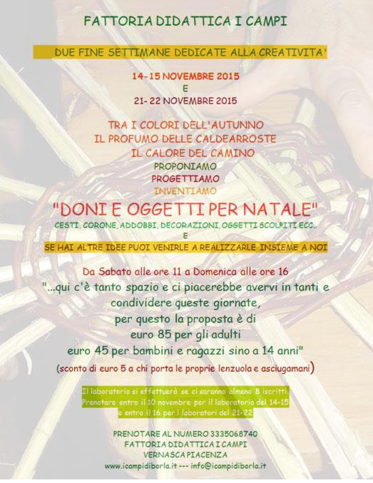 Volantino i campi finesettimana Novembre 2015